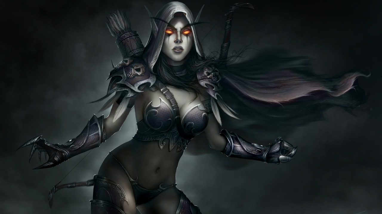 World Of Warcraft. Лучница. Lady Sylvanas
