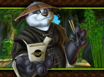 Фэнтези обои World Of Warcrfat - Герой Pandaren Xpress