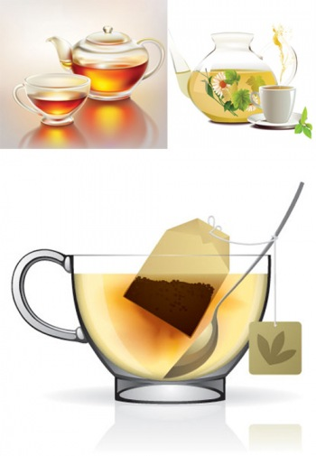 Чай в векторе / Tea vector Collection
